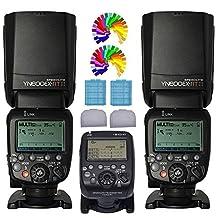 Yongnuo YN600EX-RT II Wireless Flash Speedlite 2PCS + YN-E3-RT Wireless E-TTL Flash Trigger Transmitter For Canon Digital SLR Camera