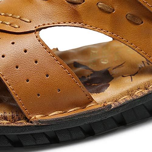 lightbrown Playa Zapatillas Verano 43 Redbrown Libre De La Transpirables Para Deportivas Hombres Caminata Hombre Aire Playa Al Pescador Cuero Sandalias Por qfB6nzUwv