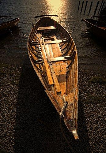 Boat On Shore, Keswick, Cumbria, England Poster Print (11 x 17) ()