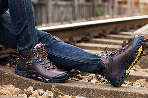 Alpinismo Sport Pelle Boots Trekking Autunno Marrone Hiking Impermeabile Esterna Uomini Invernali Sanang Stivali 888 vfqw0q