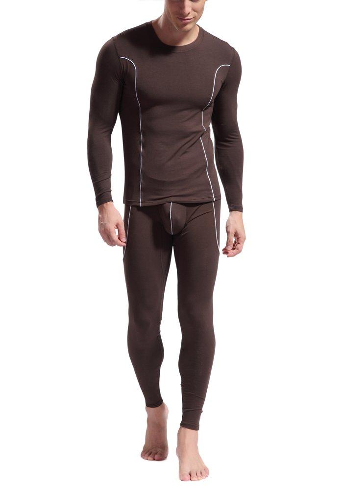 DOOXIUNDI Men's Ultra Soft Bamboo fiber Thermal Underwear Long Johns Set