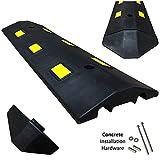 Electriduct Ultra Light Weight Economy Speed Bump - Black - 1 Piece (3 Feet) - Concrete