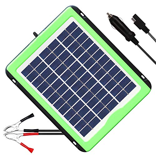 SOLPERK 12V Solar Panel,Solar trickle Charger,Solar Battery Charger and Maintainer, Suitable for Automotive, Motorcycle, Boat, ATV,Marine, RV, Trailer, Powersports, Snowmobile, etc. (5W Solar Panels) ()