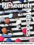 Research Methods, Design, and Analysis, Larry B. Christensen and R. Burke Johnson, 0205961258