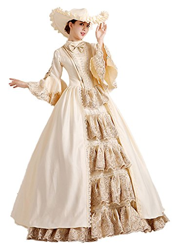 Zukzi Women's Gorgeous Gothic Victorian Dress Costume for Wedding (Size US 2) by Zukzi