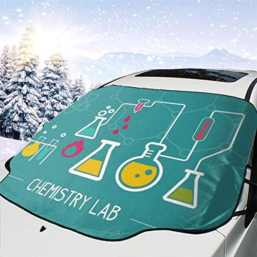 V5DGFJH.B Car Front Windshield Cover, Chemistry Lab Windshield Snow Cover Protector All Weather Winter Summer Waterproof Windshield Protector