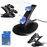 IC ICLOVER Dual USB Charging Charger Docking Station Stand for Playstation 4 PS4 Controller from IC ICLOVER