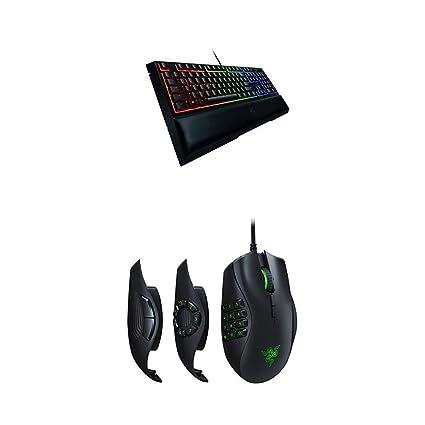 Razer Naga Trinity Gaming Mouse - [16, 000 DPI Optical  Sensor][Interchangeable Side Plate w/ 2, 7, 12 Button Configurations] &  Ornata Chroma Gaming