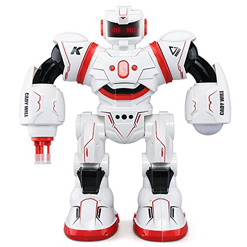 JJRC R3 Smart Combat Robot Toy RC Control Gesture Sensor Action Display Singing Dancing USB Charging Kids Christmas Birthday Gift Red by Gosear