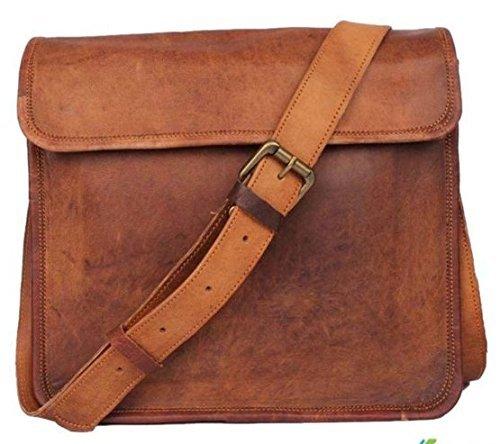 Deodar & Crafts Men's Womens Leather Half Flap Crossover 11