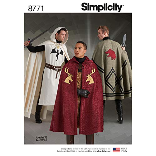 Simplicity 8771 Unisex Capes One Size (OS) Sewing Creative Patterns