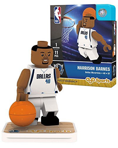 NBA Dallas Mavericks Harrison Barnes Association Home Uniform Minifigure, Small, No color by OYO