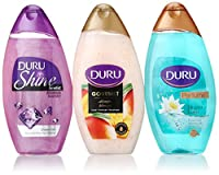 Duru 3 Piece Shower Gel Variety Pack, Amethyst/Mango Ice Cream/Lotus