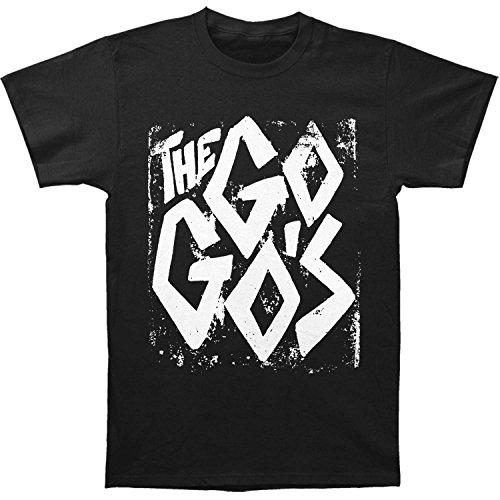 KENMENE Go Gos Men's Punk Slim Fit T-Shirt Black