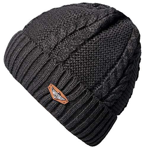 7021567e124 Loritta Mens Winter Warm Knitting Hats Wool Baggy Slouchy Beanie Hat Skull  Cap