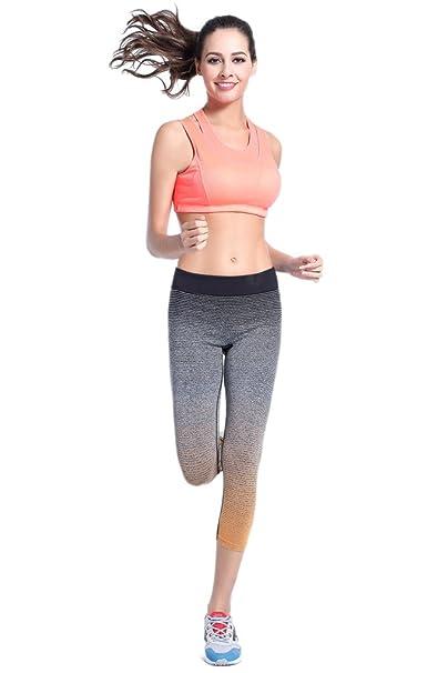 14e7f3084e06 Damen Fitness Leggings Schlank Capris Pants Yoga Hosen Casual Running  Sportbekleidung. YR.Lover  Amazon.de  Bekleidung