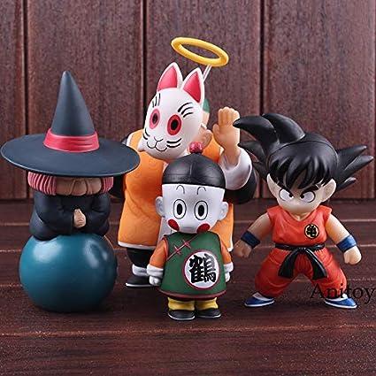 4 Pcs//Set Dragon Ball Z Son Goku Gohan Master Roshi PVC Figure Model Toy