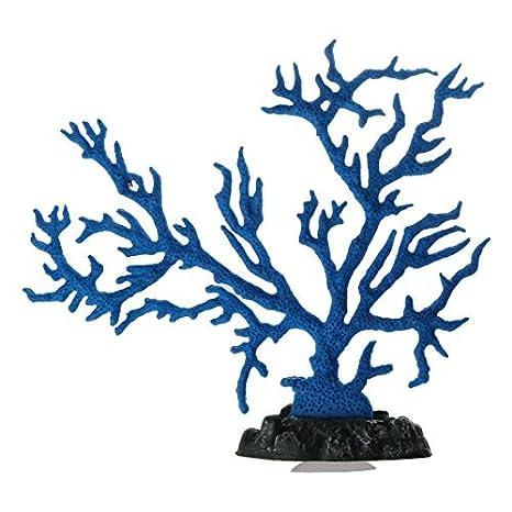 DealMux peces de acuario tanque artificial Sucker paisaje Coral Planta decoración azul: Amazon.es: Productos para mascotas
