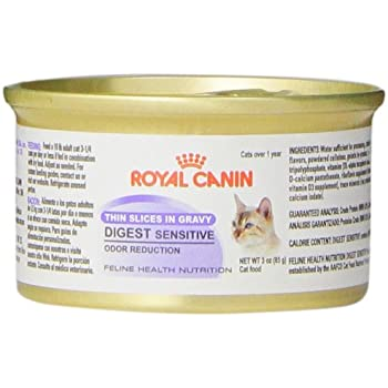 Royal Canin 24-Can Feline Health Nutrition Digest Sensitive Canned Cat Food, 3-