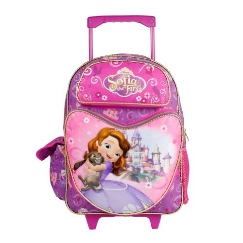 Friends Backpack Rolling (Sofia the First Large Rolling Backpack - Sweet Friends)