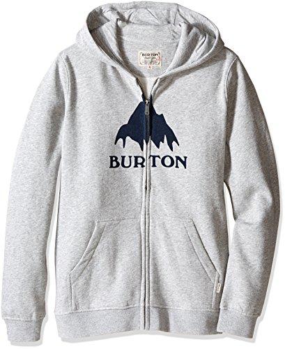 Burton Boys Classic Mountain Full-Zip Hoodie, Gray Heather, X-Large by Burton