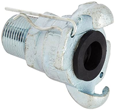 Dixon GAM Series Plated Steel Global Air Hose Fitting, King Universal Coupling, NPT Male