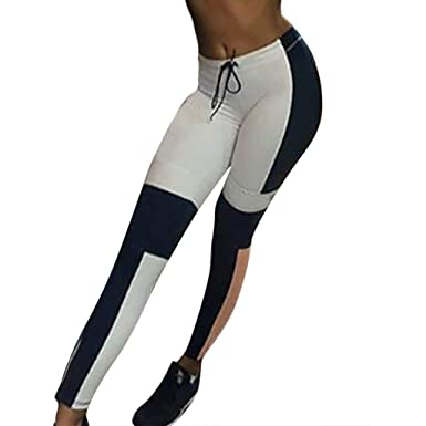 Pantalón Deportivo Mujer Stretch Slim Yoga Pantalones Color ...