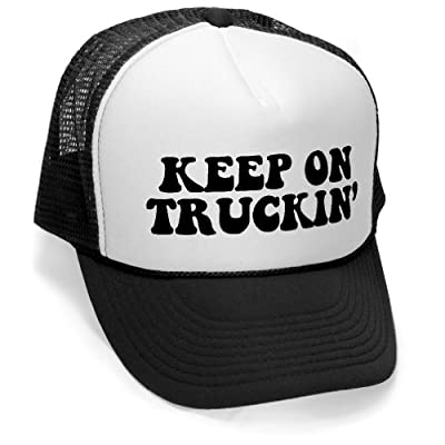 Megashirtz - Keep On Truckin' - Retro Vintage Style Trucker Hat Cap