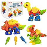 2 year old boy toys educational - Kidtastic Dinosaur Toys - STEM Learning Original (106 pieces), 3 pack Take Apart Fun, Construction Engineering Building Play Set For Boys Girls Toddlers, Best Toy Gift Kids Ages 3yr – 6yr, 3 Year olds