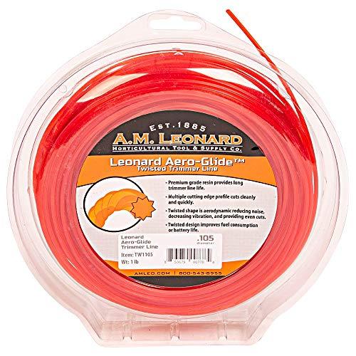 A.M. Leonard Aero-Glide Twisted Trimmer Line.105-Inch Diameter, 1-Pound Donut