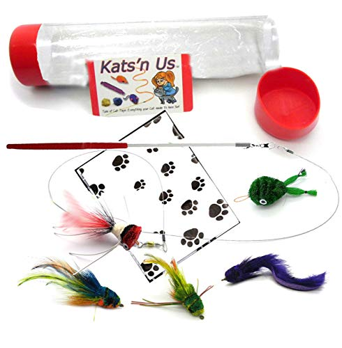 Kat Lure Bug Fly Cat Toy Wand Kit ()