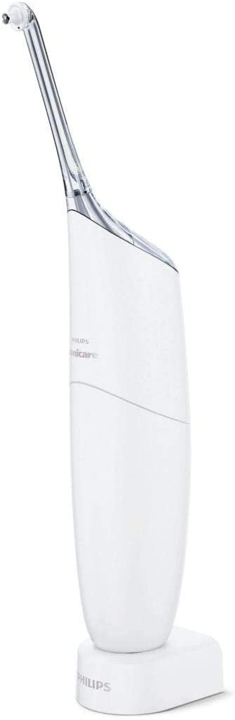 Philips Sonicare Airfloss Ultra HX8438/01 Irrigador Dental, Hasta un 99.9% de Eliminación de la Placa, 2 Boquillas Incluidas, color blanco