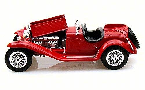 1931 Alfa Romeo 8C 2300 Spider Convertible, Red - Bburago 12063 - 1/18 scale Diecast Model Toy Car (2300 Spider)