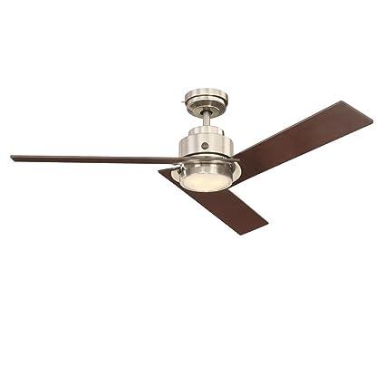 Ge daelyn 54 brushed nickel led indoor ceiling fan with skyplug ge daelyn 54quot brushed nickel led indoor ceiling fan with skyplug technology for instant plug aloadofball Images