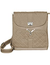 Travelon Anti-Theft Flap Front Shoulder Bag,One Size,Champagne