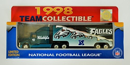 Ford Tractor Trailer (Philadelphia Eagles 1998 NFL 1/87 Diecast Tractor Trailer Ford Aeromax Truck Collectible Limited Edition Football Team Car By White Rose Matchbox)
