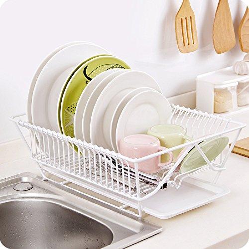 2 Tier Multifunctional Folding Kitchen Dish Rack - 7