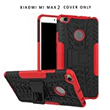 Heartly Xiaomi Mi Max 2 Back Cover Spider Kickstand Hard Dual Rugged Armor Hybrid Bumper Case - Hot Red