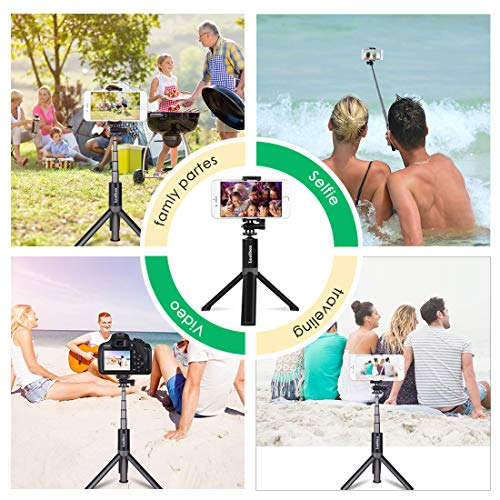 Selfie Stick Tripod, Leelbox Bluetooth Selfie Stick with Tripod and Detachable Wireless Remote, Extendable Monopod Stand Holder Universal for Digital Camera and Android iOS Mobile Smart Phone by Leelbox (Image #6)