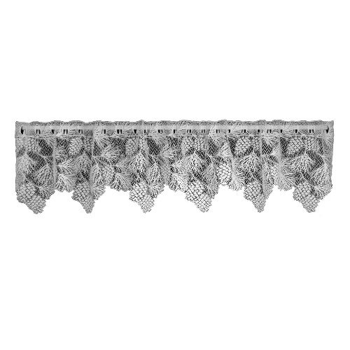 Heritage Lace Woodland 60-Inch Wide by 16-Inch Drop Valance, White (Lace Woodland Curtain)