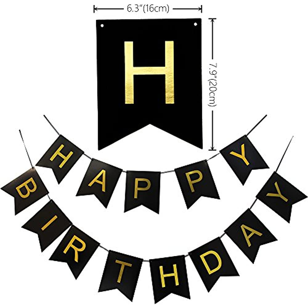 KUNGYO Classy 23rd Birthday Party Decorations Kit Black Happy Brithday BannerSilver 23 Mylar Foil Balloon Star Latex BalloonHanging Swirls