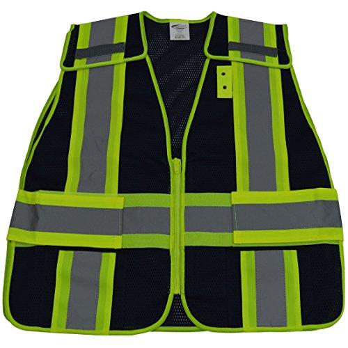 Petra Roc BLVM-PSV-REG BLVM-PSV ANSI Non-Rated/Lime Green Contrast Expandable Breakaway Vest, Small/X-Large, Navy Blue Mesh ()