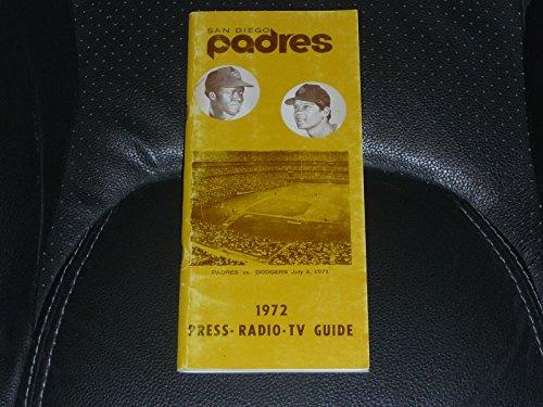 VINTAGE 1972 SAN DIEGO PADRES BASEBALL MEDIA GUIDE NATE (1972 San Diego Padres)