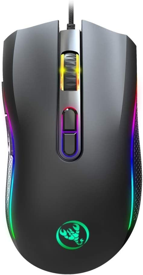 Cable Length:1.5m Alice A869 7200 DPI Six-Speed Adjustable 7-Keys Macro Definition Programmable Colorful Light-Emitting Wired Game Optical Mouse