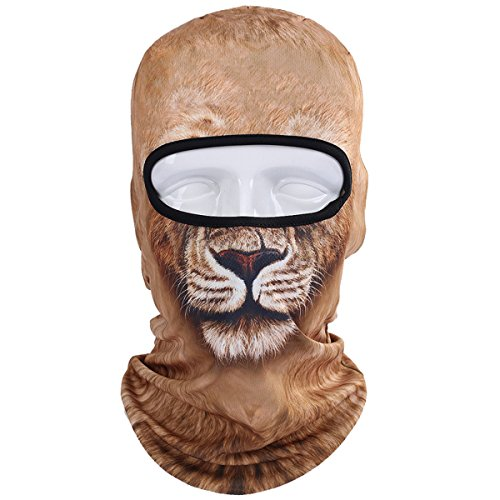 WTACTFUL Animal Balaclava Face Mask Breathable Wind Dust UV Helmet Liner Protection Skiing Snowboard Snowmobile Cycling Motorcycle Driving Riding Biking Fishing Hunting Music Festivals Halloween BNB04 ()
