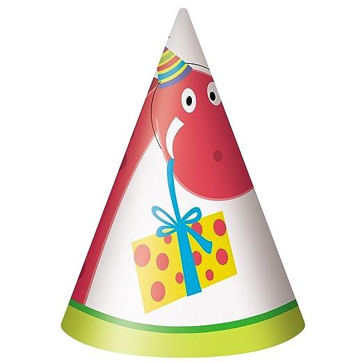 Dinosaurio cumpleaños sombreros de fiesta (8-Pack): Amazon ...