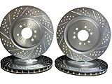 2003 thru 2013 Dodge Viper Front & Rear Disc Brake Rotors +Heavy Duty Pads