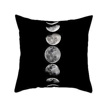 Funda para cojín de color blanco y negro y patrón geométrico, de Sukisuki, decorativa para sofá, 15#, talla única