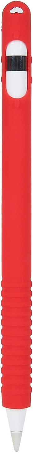 JIA JUN Apple Pencil Accessories Case Cover for Apple Ipad Pro 12.9,New Ipad 10.5,Silicone Pouch Holder Bag Grips Colored Apple Pencils (red)