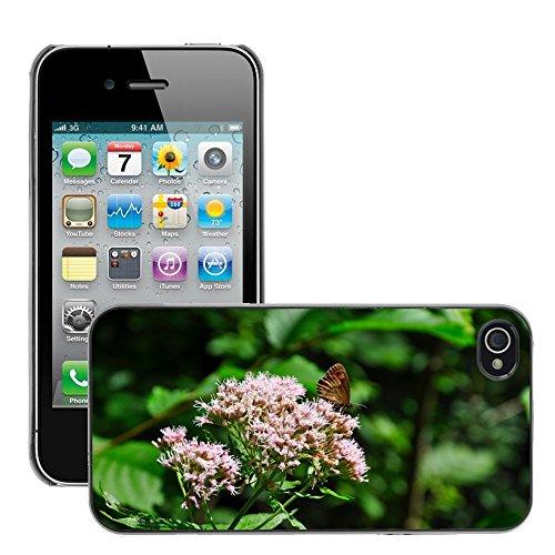 Bild Hart Handy Schwarz Schutz Case Cover Schale Etui // M00133778 Schmetterlings Wald Insekt Natur // Apple iPhone 4 4S 4G
